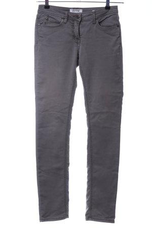 Million X Women Pantalón de tubo gris claro look casual
