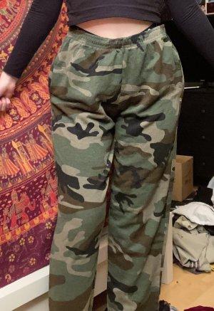 Bershka Pantalone a vita alta multicolore