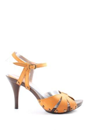 Milly High Heel Sandaletten hellorange Elegant