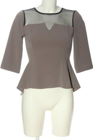 Milly Camicetta a maniche lunghe grigio chiaro stile professionale