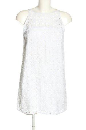 Milly Minikleid weiß Webmuster Elegant