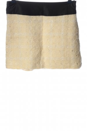 Milly Miniskirt cream check pattern casual look