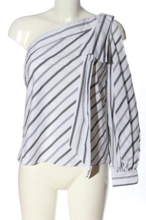 Milly Top monospalla bianco-nero Cotone