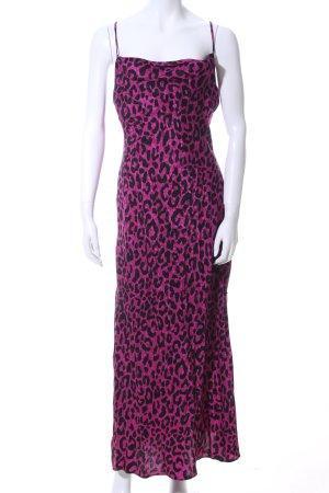 Milly Abito scamiciato rosa-nero stampa integrale stile casual