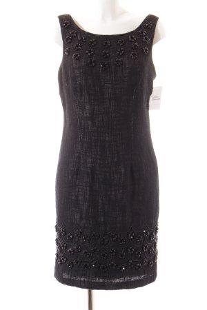 Milly Trägerkleid schwarz-beige meliert Elegant