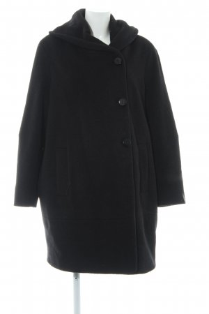 Milo Coats Wollmantel schwarz Business-Look