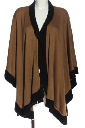 Mim Poncho marrone-nero stile casual
