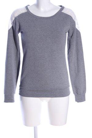 Mim Sweatshirt hellgrau meliert Casual-Look