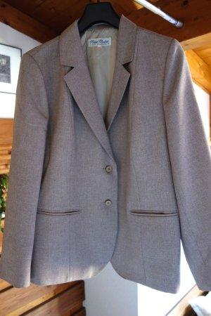 Mimi Moden Modeatelier, Vintage von vor 2000, 80iger Jahre, Blazer, Jacke, klassisches Modell, hochwertige Qualität, leichte Struktur Stoff, hellbraun, beige, Viskose/Polyester, TOP Qualität, sehr gut erhalten, Gr. 46