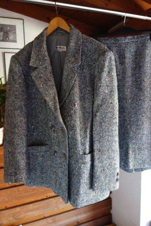 Mimi Moden Modeatelier (Vintage) Damespak grijs-azuur Polyester