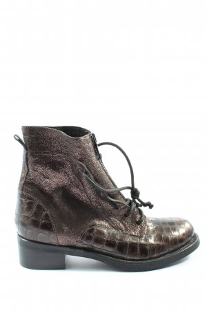 Mimmu Lace-up Booties pink-brown animal pattern casual look