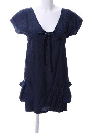 Mina UK Robe chemisier bleu style décontracté