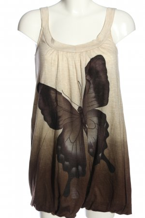 Mina UK Longtop braun-wollweiß Farbverlauf Casual-Look