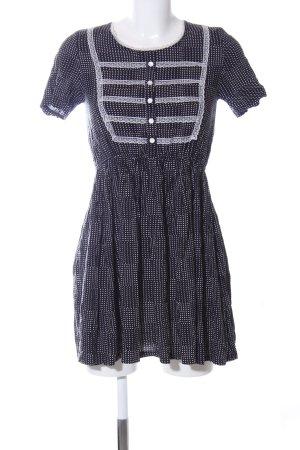 Mina UK Minikleid schwarz-weiß Allover-Druck Casual-Look