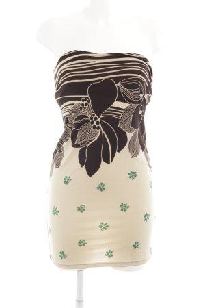 Mina UK Abito elasticizzato motivo floreale stile casual