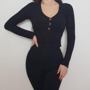 Mind Code Fashion Nova Black Schwarz Crop Top Oberteil