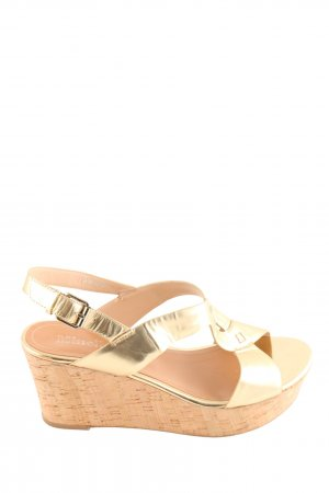 minelli Keil-Pumps goldfarben-nude Casual-Look