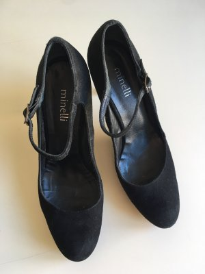 minelli Escarpins Mary Jane noir cuir