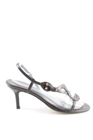 minelli Riemchen-Sandaletten dunkelbraun schlichter Stil