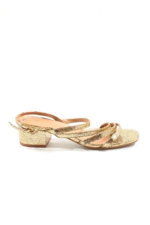 minelli Riemchen-Sandaletten goldfarben Elegant