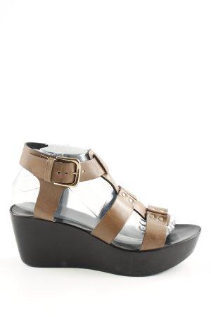 minelli Riemchen-Sandaletten braun-schwarz Casual-Look