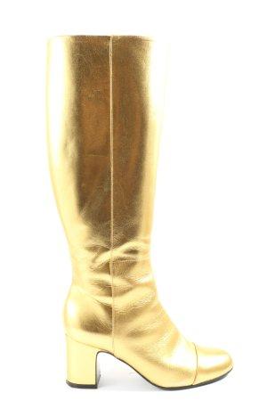 minelli Wide Calf Boots gold-colored elegant