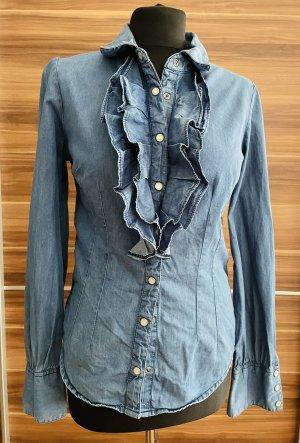 Mint&berry Jeansowa koszula błękitny