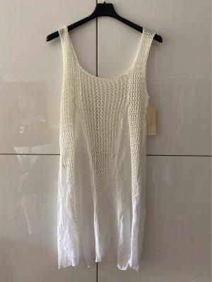 New collecttion Sukienka boho w kolorze białej wełny Bawełna