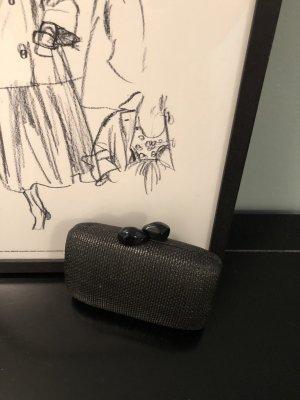 Mini Clutch mit auffälligem Verschluß - Max Mara Group/Intrend schwarz