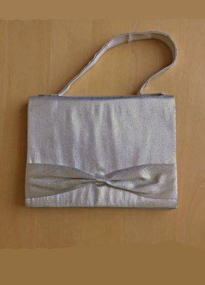 Mini Handtasche / Clutch in silber