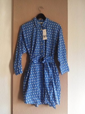 Mini-Hemdblusenkleid aus 100% Baumwolle, Grösse S, neu
