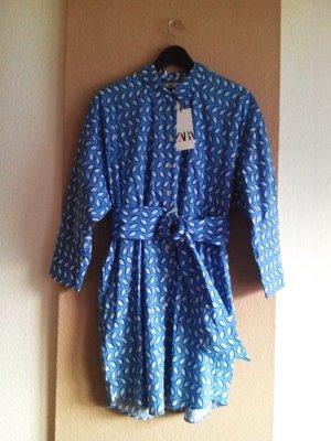 Zara Koszulowa sukienka Wielokolorowy Bawełna