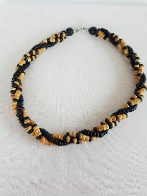 Mini Holzperlen Kette Halsschmuck Halskette Schmuck