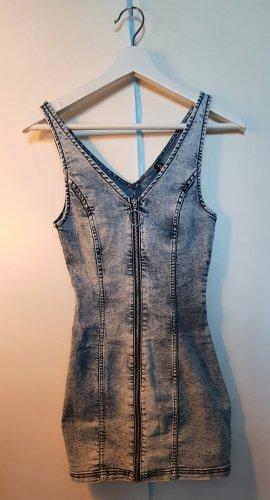 H&M Divided Jeansowa sukienka Wielokolorowy
