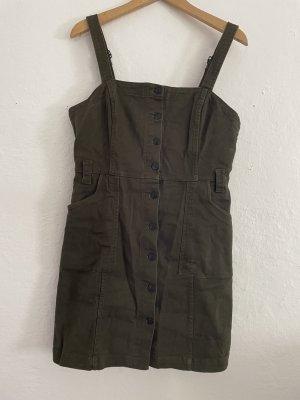 Jeansowa sukienka oliwkowy-ciemnozielony