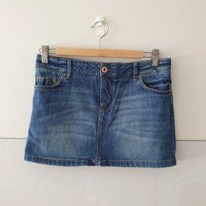 Massimo Dutti Gonna di jeans blu scuro Cotone