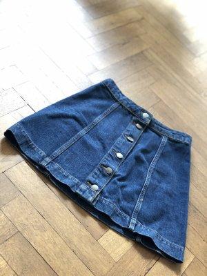 Mini Jeansrock mit Knopfleiste