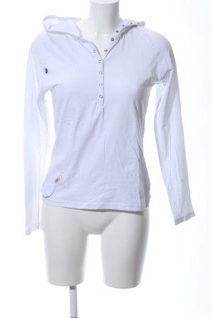 Mini Top à capuche blanc style décontracté