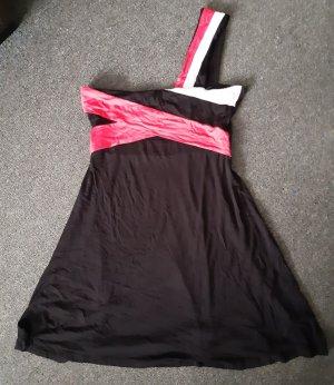 b.p.c. Bonprix Collection Mini Abito nero-rosa