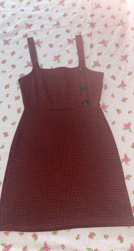 Pull & Bear Sukienka mini czarny-ciemnoczerwony