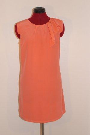 Mini-Kleid aus Seide mit Volant am Halsausschnitt