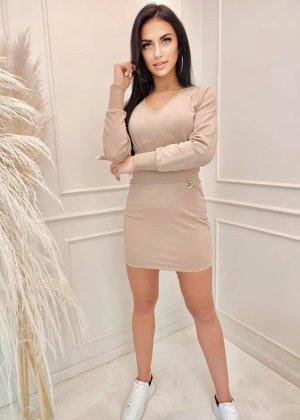 COLORI Mini Dress beige