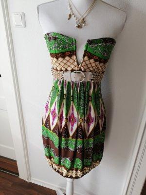 SKY Sukienka z gorsetem Wielokolorowy