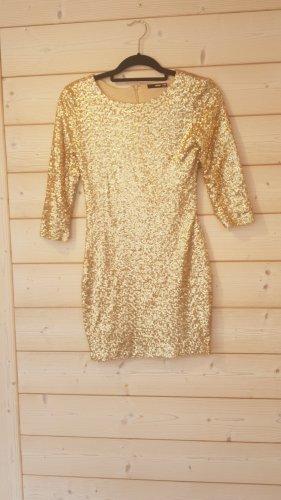 Mini Kleid Gold