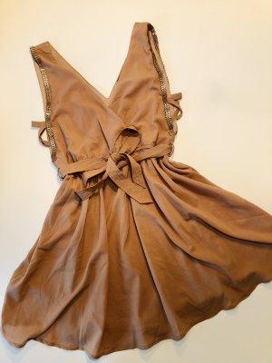 Mini Kleid - M - aufwendig - besonders - nude