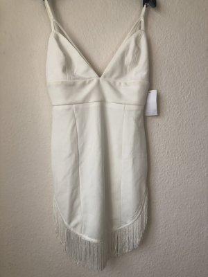 Vestido con flecos blanco