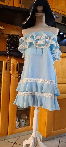 X Nation Chiffon jurk babyblauw Chiffon