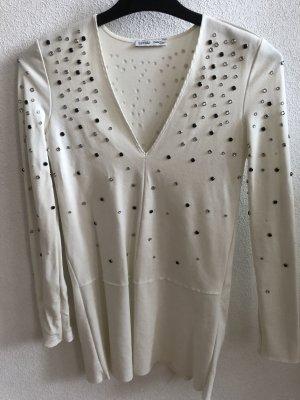 Zara Woman Robe en jersey blanc