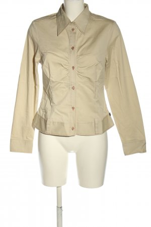 Mini Langarm-Bluse creme Casual-Look