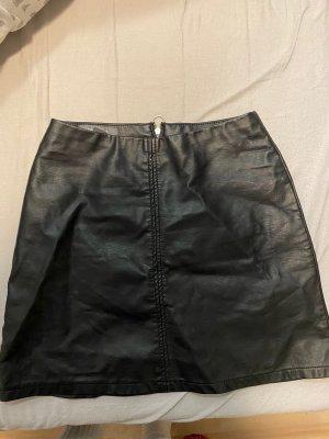 Primark Jupe en cuir noir